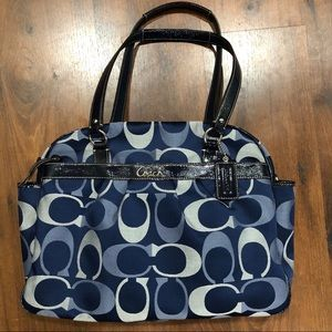 COACH Addison Diaper Bag - Large Purse blue multi